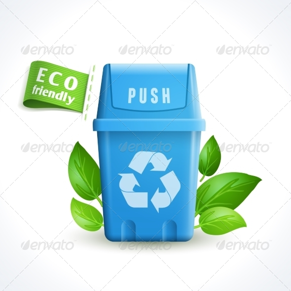 GraphicRiver Ecology Symbol Trash Can 8127100
