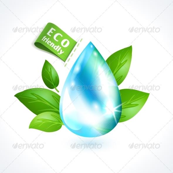 GraphicRiver Ecology Symbol Water Drop 8127105