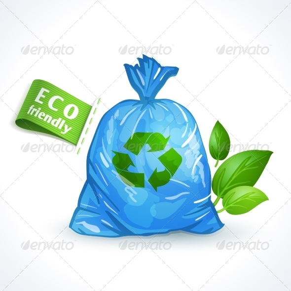 GraphicRiver Ecology Symbol Plastic Bag 8127108