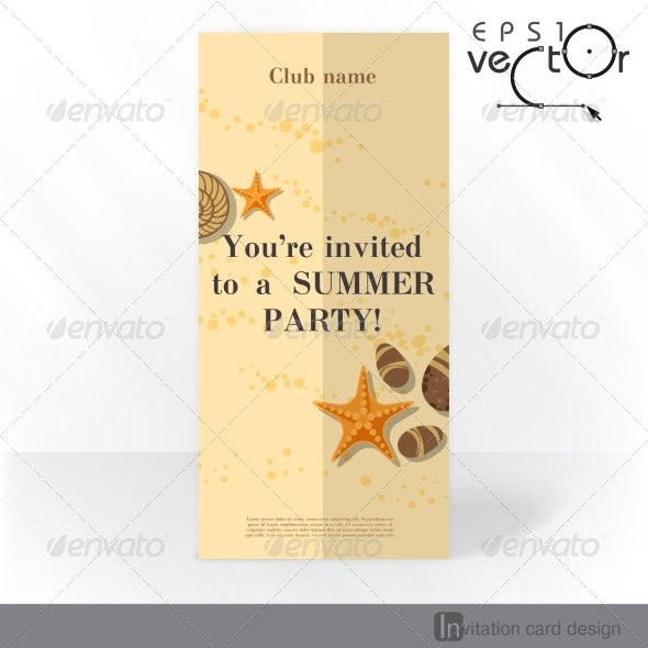 GraphicRiver Party Invitation Card Design Template 8127114