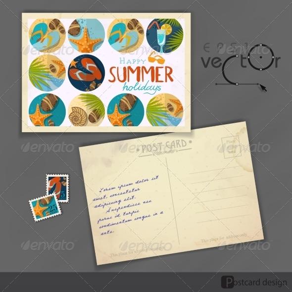 GraphicRiver Old Postcard Design Template 8127116