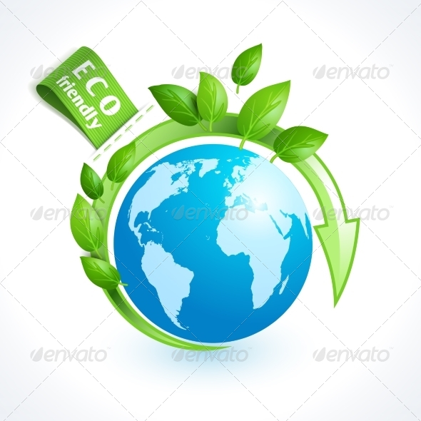 GraphicRiver Ecology Symbol Globe 8127117