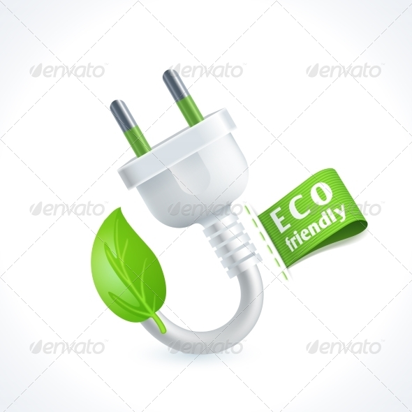 GraphicRiver Ecology Symbol Plug 8127119