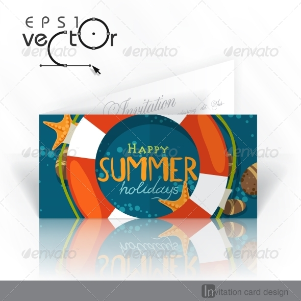GraphicRiver Invitation Card Design Template 8127125