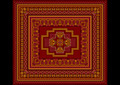 Carpet Old Style in Burgundy Shades - PhotoDune Item for Sale
