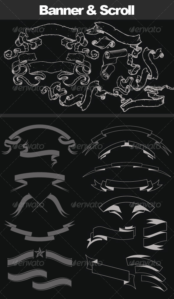 GraphicRiver Scroll and Banner Brush 8127139