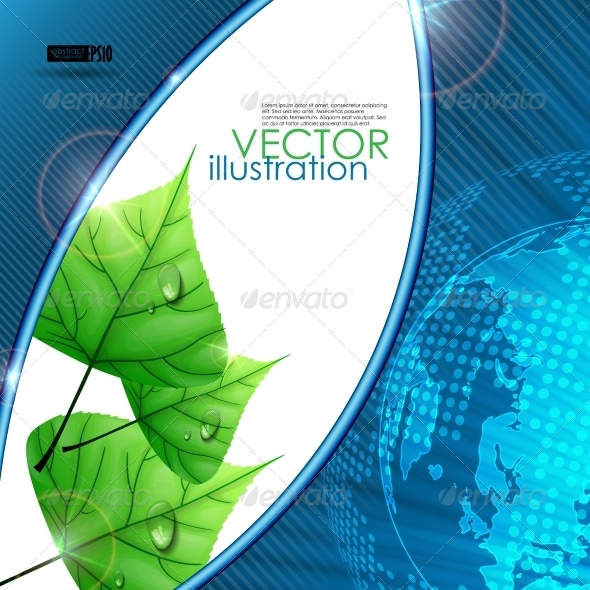 GraphicRiver Eco Background With Leaves 8127176