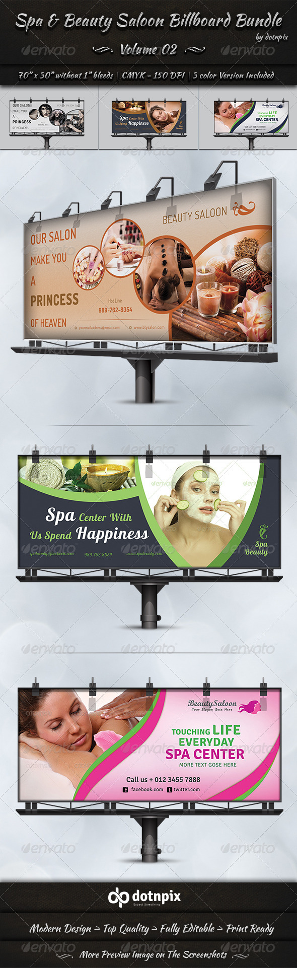GraphicRiver Spa & Beauty Saloon Billboard Bundle Volume 2 8127359