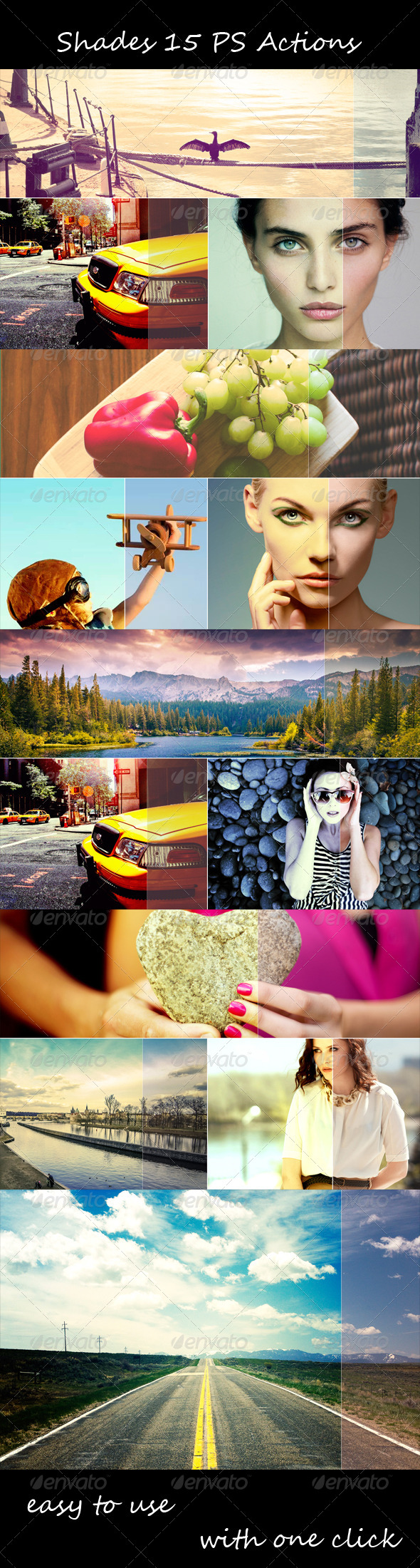 GraphicRiver Shades 15 PS Actions 8127491