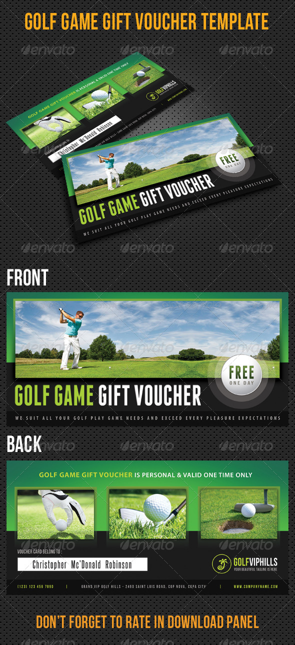 GraphicRiver Golf Game Gift Voucher V11 8127495