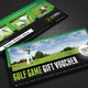 Golf Game Gift Voucher V11 - GraphicRiver Item for Sale