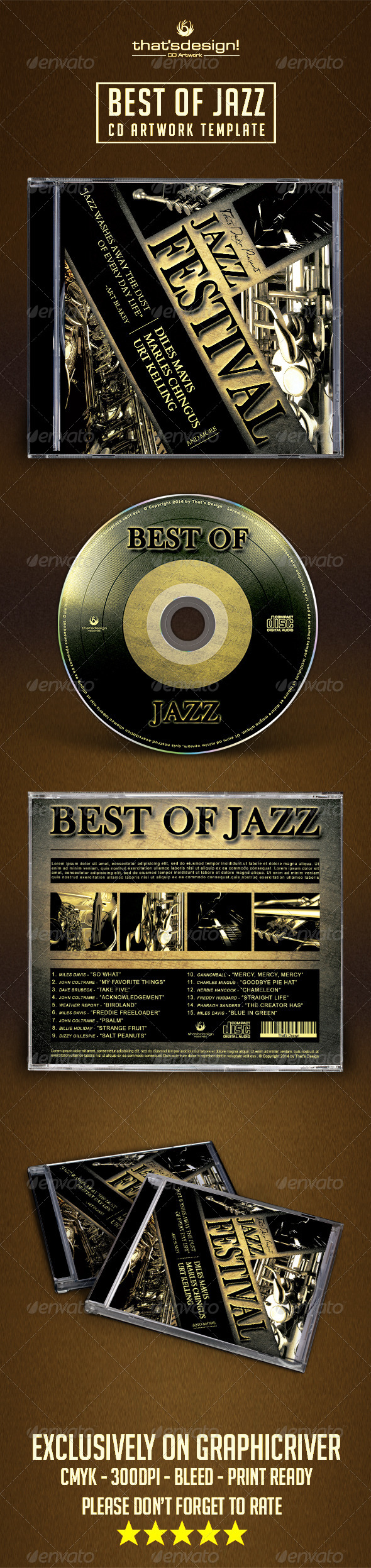 GraphicRiver Jazz CD Artwork Template 8127502