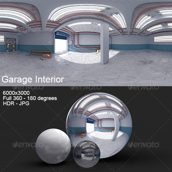 3DOcean Garage Interior HDRI 8127592