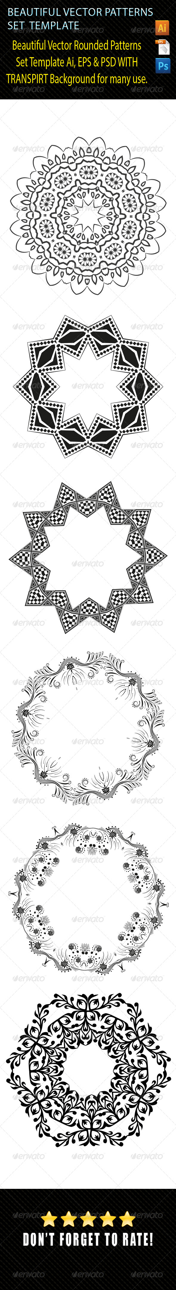 GraphicRiver Vector Pattern Set Template 01 8127681