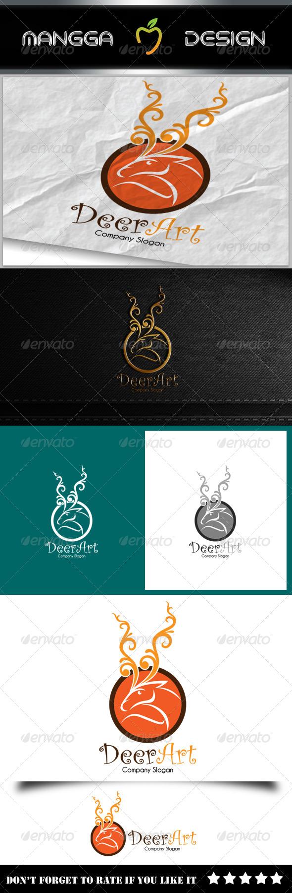 GraphicRiver Deer Art Logo 8127812