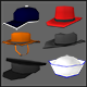 Extreme Low Poly Hats - 3DOcean Item for Sale