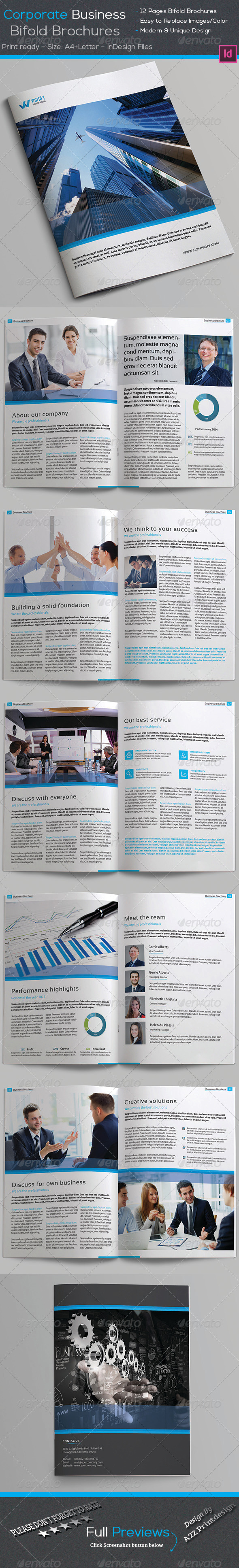 GraphicRiver A4 Letter 12 Page Corporate Brochures 8127874