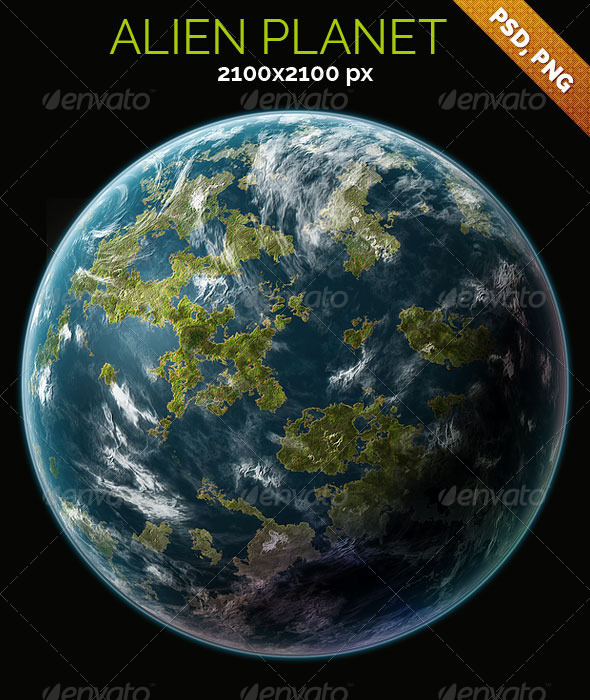 GraphicRiver Alien Planet 8127887