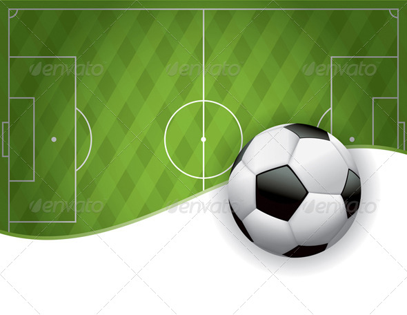 GraphicRiver Football American Soccer Field and Ball Background 8128058