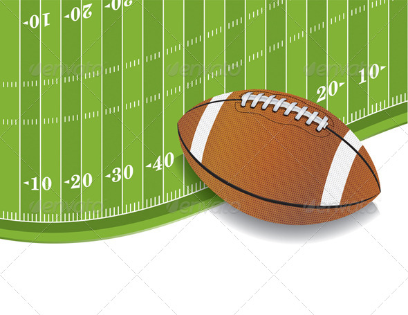 GraphicRiver American Football Field and Ball Background 8128062
