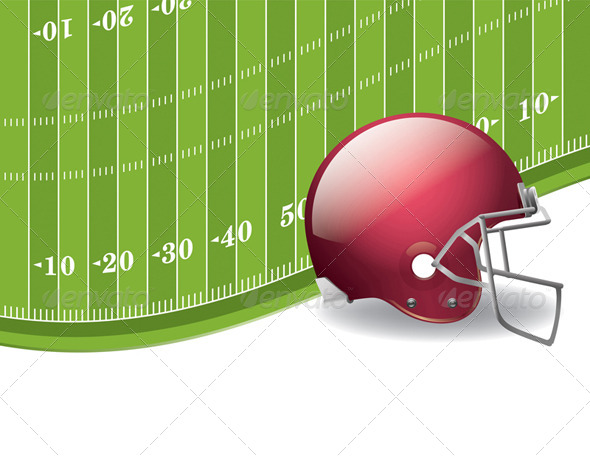 GraphicRiver American Football Field and Helmet Background 8128064