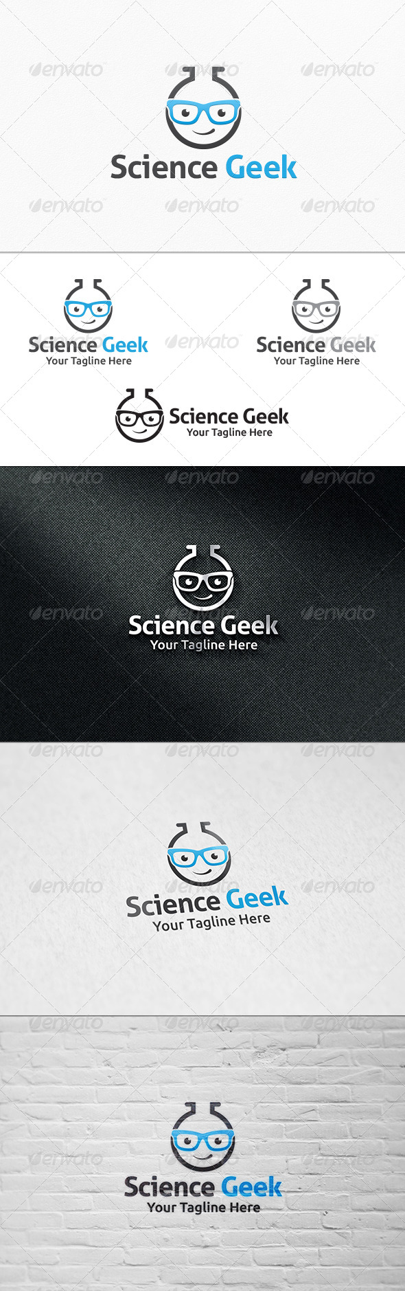 GraphicRiver Lab Geek Logo Template 8128109