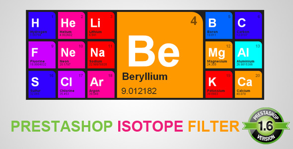 CodeCanyon Isotope Prestashop Filter 8128133