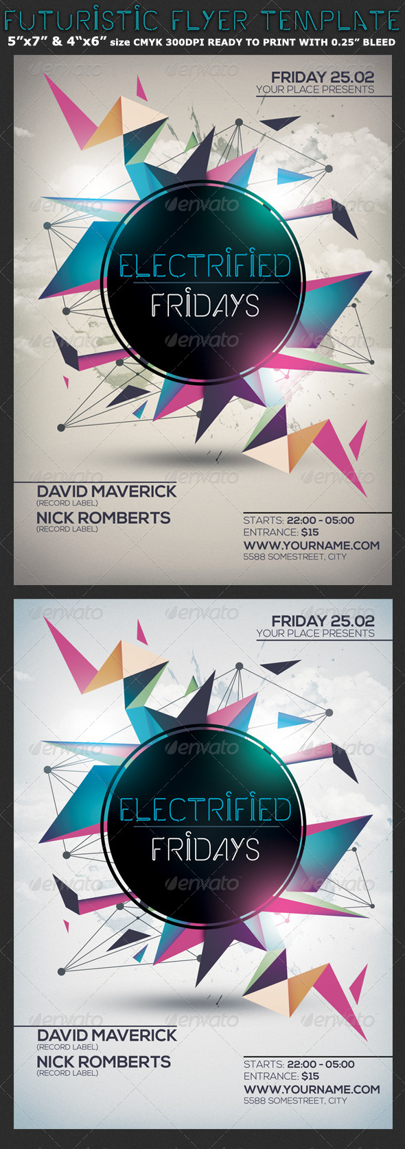 Minimalism Colourful Party Flyer Template - Clubs & Parties Events