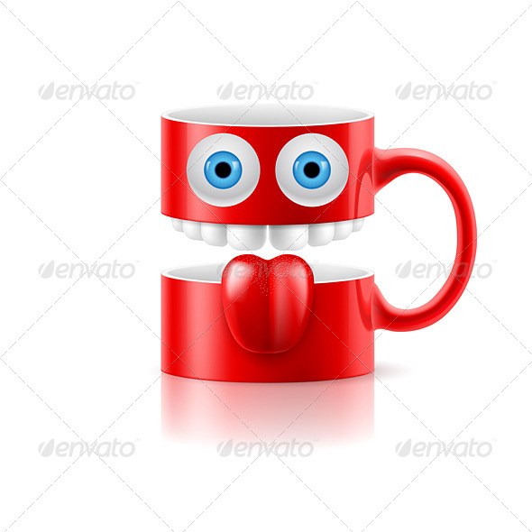 GraphicRiver Cartoon Mug 8128234