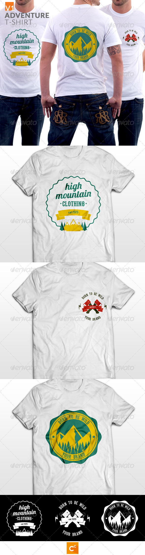 GraphicRiver Badge Adventure T-shirt 8128252