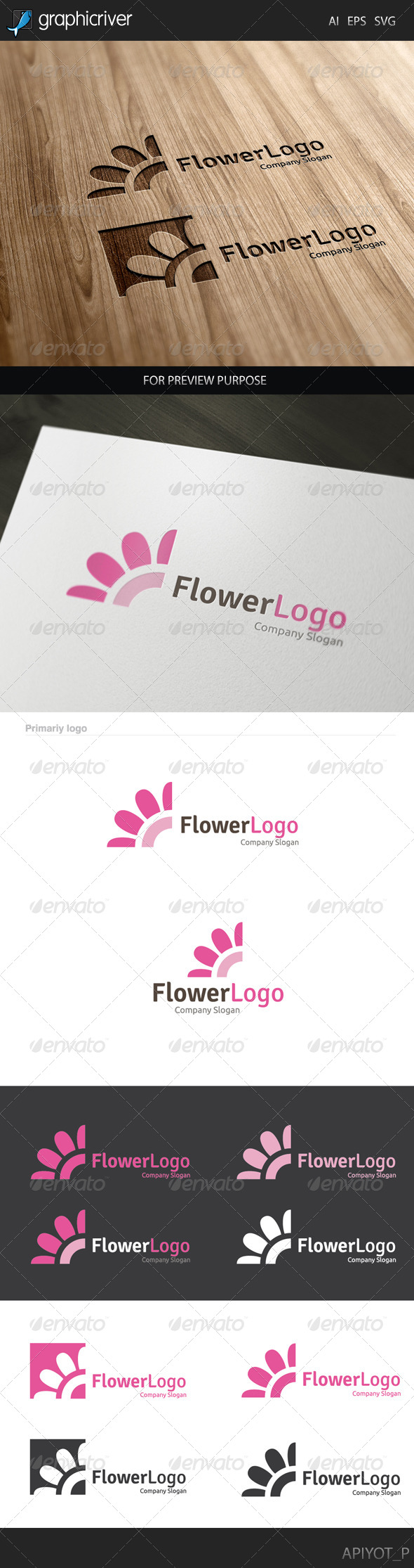 GraphicRiver Flower Logo 8128530