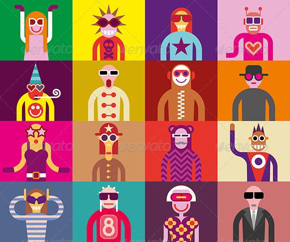 GraphicRiver People in Sunglasses Portraits 8128582