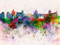 Palermo skyline in watercolor background - PhotoDune Item for Sale