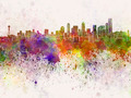 Seattle skyline in watercolor background - PhotoDune Item for Sale