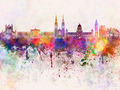 Belfast skyline in watercolor background - PhotoDune Item for Sale