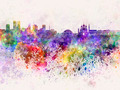 Tallinn skyline in watercolor background - PhotoDune Item for Sale
