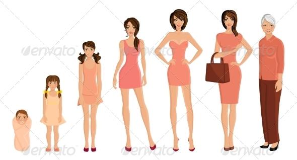 GraphicRiver Generation Woman Set 8129124