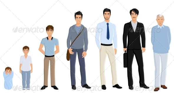 GraphicRiver Generation Man Set 8129127