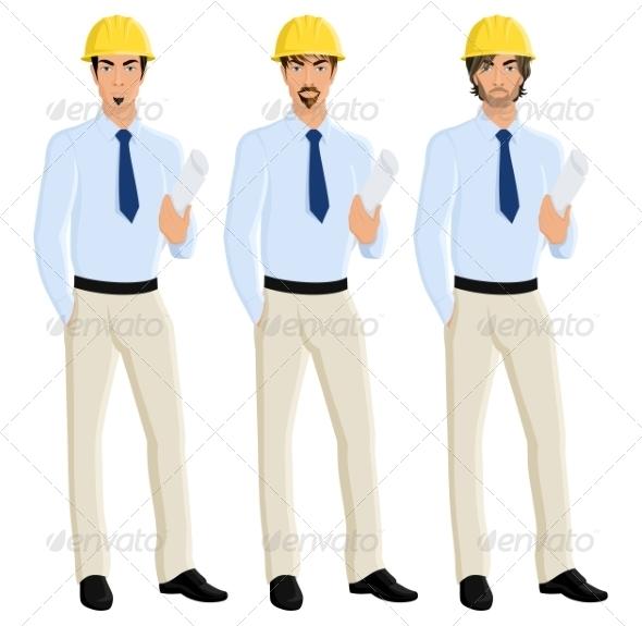 GraphicRiver Man Engineer Portrait Set 8129135