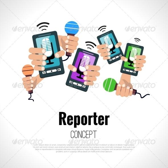 GraphicRiver Journalist Reporter Concept 8129136