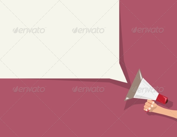 GraphicRiver Speech Bubble and Megaphone 8129139