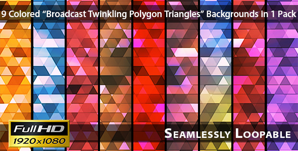 Broadcast Twinkling Polygon Triangles Pack 02