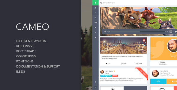 Cameo - Bootstrap 3 Responsive Admin Template - Admin Templates Site Templates