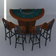 Black Jack table set - 3DOcean Item for Sale