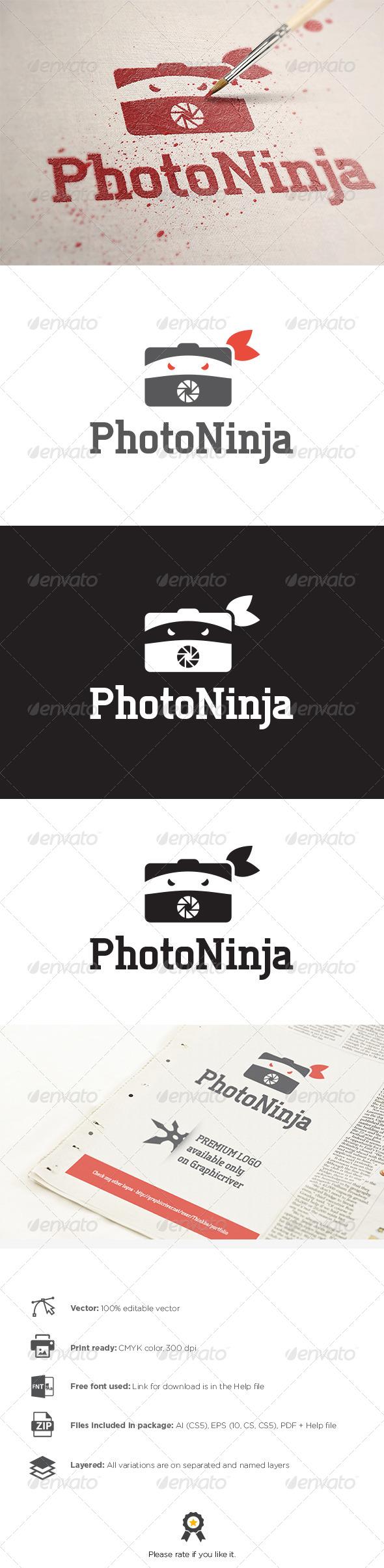 GraphicRiver Photo Ninja Logo 8130048