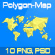"""""""Polygon World Map"""" - GraphicRiver Item for Sale"""
