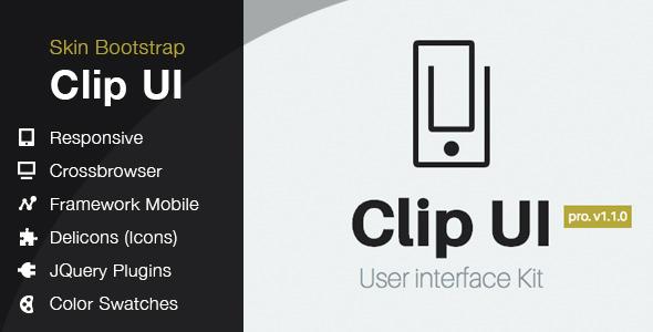 CodeCanyon CLIP UI Bootstrap Skin 8130547