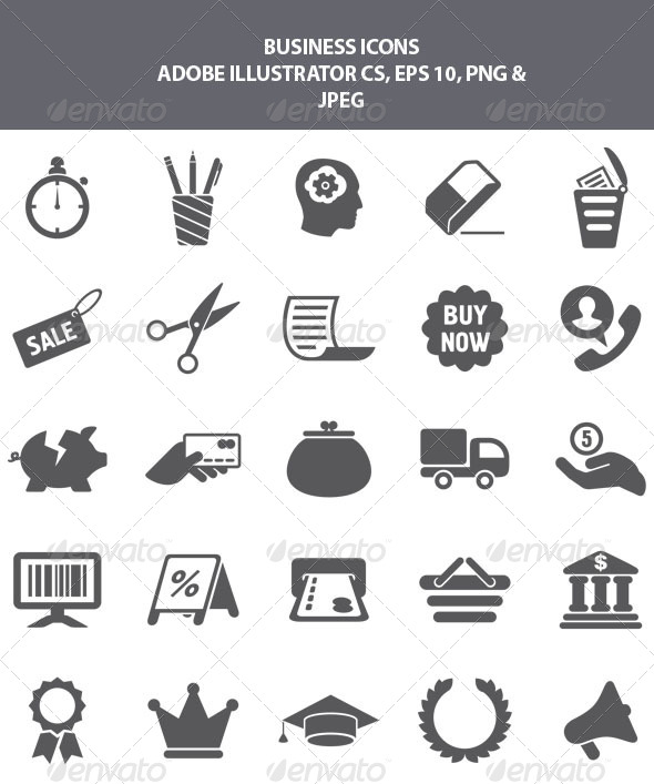 GraphicRiver Business Icons 8130695