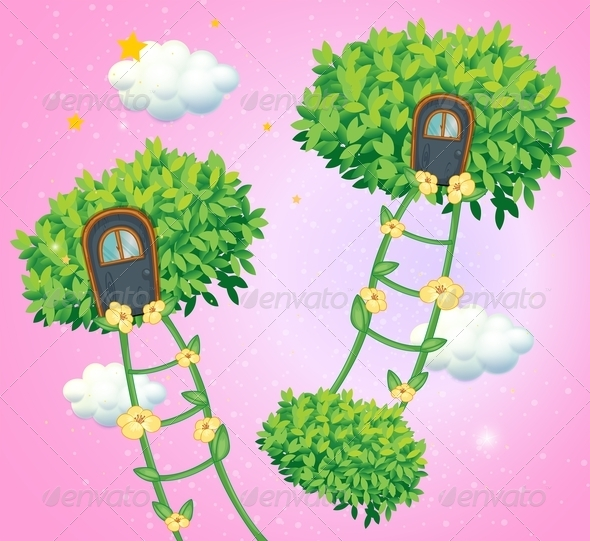 GraphicRiver Green Ladders Going to the Sky 8130777