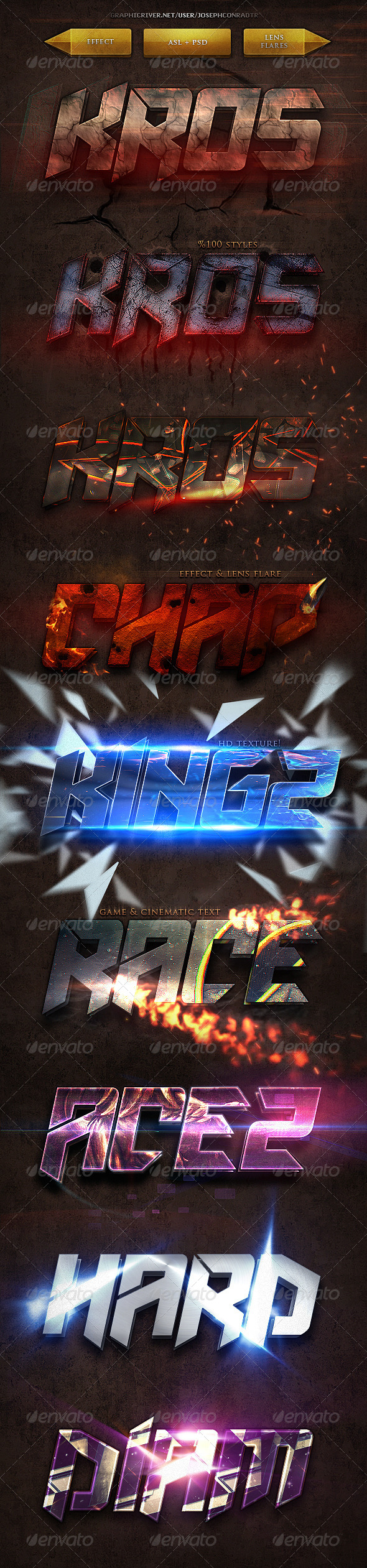 GraphicRiver Gametic Text Styles 8130844